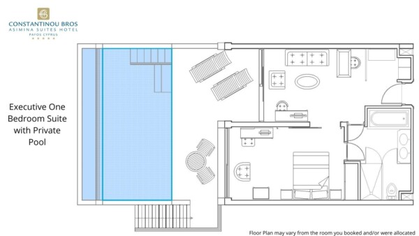 4 Executive One Bedroom Suite with Private Pool